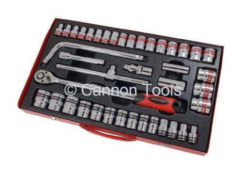 "41Pc 1/2"" Inch Drive Socket Set Sae And Metric Imperial Af Extending Tool Set"